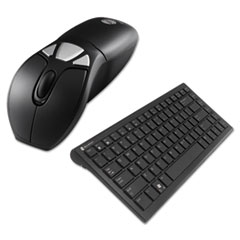 Gyration® Air Mouse GO Plus Combo with Compact Keyboard, USB, Black/Silver