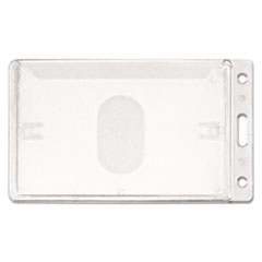 Advantus Frosted Rigid Badge Holder, 2 1/8 x 3 3/8, Clear, Vertical, 25/BX