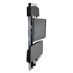 Ergotron® LX Wall Mount System for Medium CPU, 18.25w x 35d x 34h, Polished Aluminum/Black