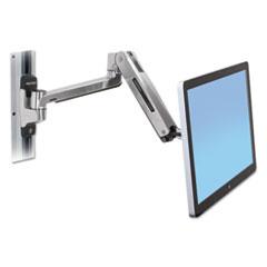 Ergotron® LX HD Sit-Stand Wall Mount LCD Arm, Polished Aluminum/Black