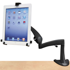 """Ergotron® Neo-Flex Desk Mount Tablet Arm, Up to 10"""" Tablet, Black"""
