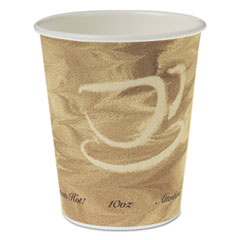 Dart® Single Sided Poly Paper Hot Cups, 10 OZ, Mistique design, 50/Bag, 20 Bags/Carton