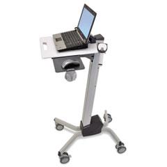 Ergotron® Neo-Flex Laptop Cart, 20w x 28.88d x 26.63 to 46.63h, Two-Tone Gray