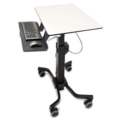 Ergotron® TeachWell Mobile Digital Sit-Stand Workstation, 31 x24 1/8 x 51 7/8, Gray/Black