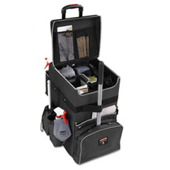 Rubbermaid® Commercial Executive Quick Cart, Large, 14.25w x 16.5d x 25h, Dark Gray