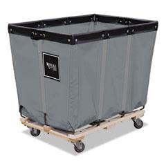 Royal Basket Trucks 8 Bushel Permanent Liner Truck, 22 x 34 x 29 1/2, 600 lbs. Capacity, Gray RBTR08GGPMA3UN