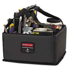 Rubbermaid® Commercial Executive Quick Cart Caddy, Small, Dark Gray RCP1902459CT