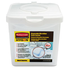 Rubbermaid® Commercial HYGEN™ Disposable Microfiber Charging Tub, White