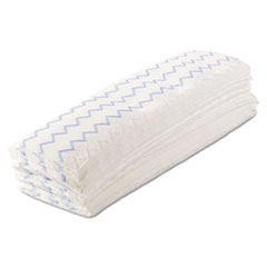 "Rubbermaid® Commercial HYGEN™ Disposable Microfiber Mop, 18"", White/Blue, Wet/Dry Use, 150/Carton"