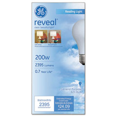 GE Reveal A21 Light Bulb, 200 W