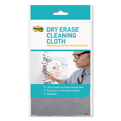 """Post-it® Dry Erase Cleaning Cloth, Fabric, 10 5/8""""w x 10 5/8""""d"""
