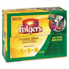 Folgers® Coffee, Classic Roast, Decaf, 0.9 oz Bag, 36/Carton