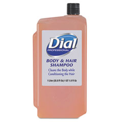 Dial® Professional Body & Hair Care, Peach, 1 L Refill Cartridge, 8/Carton