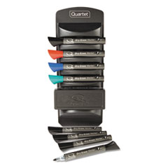 Quartet® Marker Caddy Kit, Broad Chisel Tip, Assorted Colors, 8/Set