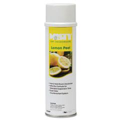 Handheld Air Deodorizer, Lemon Peel, 10 oz Aerosol, 12/Carton