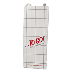 """Bagcraft ToGo! Foil Insulator Deli and Sandwich Bags, 5.25"""" x 12"""", White, To Go! Design, 1,000/Carton"""