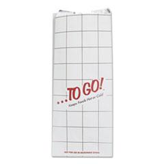 """Bagcraft ToGo! Foil Insulator Deli and Sandwich Bags, 6"""" x 14"""", White, To Go! Design, 500/Carton"""