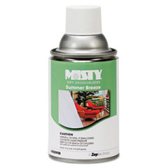 Metered Dry Deodorizer Refills, Summer Breeze, 7 oz Aerosol, 12/Carton