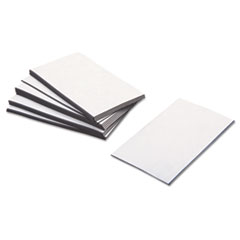 ZEUS® Business Card Magnets, 3 1/2 x 2, White, Adhesive Coated, 25/Pack