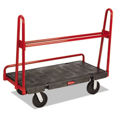 Rubbermaid® Commercial A-Frame Panel Truck, 2,000-lb Capacity, 24.25w x 48d x 45h, Black/Red