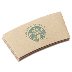 Starbucks® Cup Sleeves, For 12/16/20 oz Hot Cups, Kraft, 1380/Carton