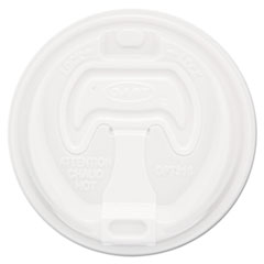 Dart® Optima Reclosable Lid, 12-24oz Foam Cups, White, 100/Bag