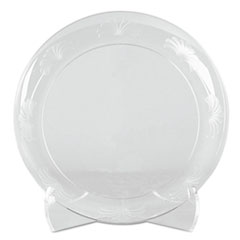 "WNA Designerware Plates, Plastic, 6"", Clear, 18/PK, 10 PK/CT"