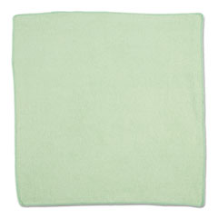 Rubbermaid® Commercial Microfiber Cleaning Cloths, 16 X 16, Green, 24/Pack