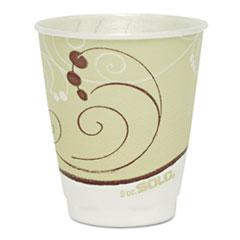 Dart® Symphony Design Trophy Foam Hot/Cold Drink Cups, 8 oz, Beige, 1000/Carton