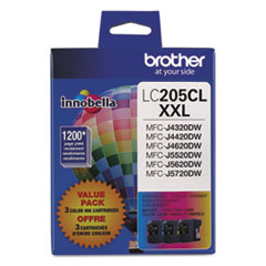 Brother LC2053PKS Innobella Super High-Yield Ink, 1200 Page-Yield, Cyan/Magenta/Yellow