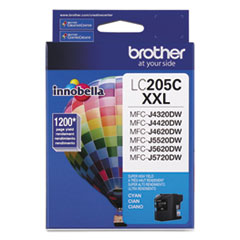 Brother LC205C Innobella Super High-Yield Ink, 1200 Page-Yield, Cyan