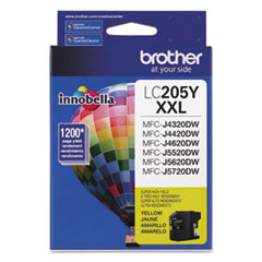 Brother LC205Y Innobella Super High-Yield Ink, 1200 Page-Yield, Yellow