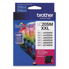 Brother LC205M Innobella Super High-Yield Ink, 1200 Page-Yield, Magenta