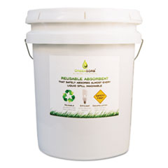 GreenSorb™ Eco-Friendly Sorbent, Clay, 25 lb Bucket