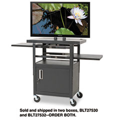 BALT® Two-Shelf Height Adjustable Flat Panel TV Cart Thumbnail