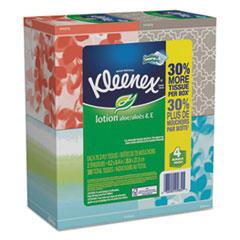 Kleenex® Lotion Facial Tissue, 2-Ply, White, 65 Sheets/Box, 4 Boxes/Pack, 8 Packs/Carton