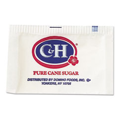 C&H® Granulated Sugar Packets, 0.1 oz, 2000/Carton