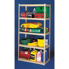 Stur-D-Stor Shelving, Five-Shelf, 48w x 24d x 84h, Sand
