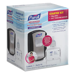 "PURELL® LTX-7 Advanced Instant Hand Sanitizer Kit, 700 mL, 5.75"" x 4"" x 10.31"", Chrome/Black, 4/Carton"