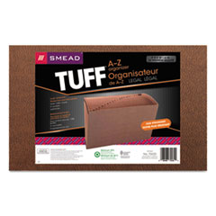 Smead® TUFF Expanding Files, 21 Sections, 1/21-Cut Tab, Legal Size, Redrope
