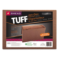 Smead® TUFF Expanding Files, 12 Sections, 1/12-Cut Tab, Legal Size, Redrope