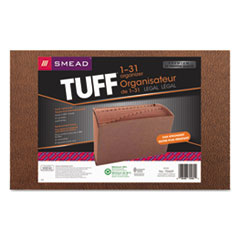 Smead® TUFF Expanding Files, 31 Sections, 1/31-Cut Tab, Legal Size, Redrope