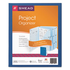 Project Organizer Expanding File, 10 Pockets, Lake/Navy Blue