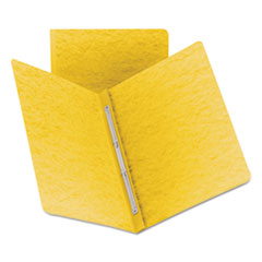 Smead® Side Opening PressGuard Report Cover, Prong Fastener, Letter, Yellow