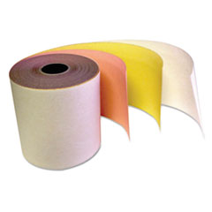 """IMPRESO® Carbonless Receipt Rolls, 3"""" x 67 ft, White/Canary/Pink, 60/Carton"""