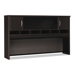 Bush® Envoy Series Hutch, 58w x 14.25d x 36.25h, Mocha Cherry