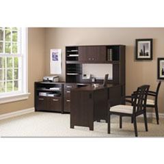 Bush® Envoy Corner Desk Shell, 42.13w x 42.13d x 30.25h, Mocha Cherry