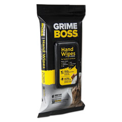 Sani Professional® Grime Boss Hand and Surface Wipes, White, 8.2 x 9.8, 30/Pack