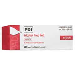 Sani Professional® PDI Alcohol Prep Pads, White, 200/Box