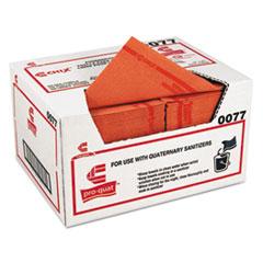 Chix® Pro-Quat Food Service Towels, Medium-Heavy Duty, 13 x 21, Red, 150/Carton